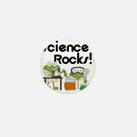 Frogs Science Rocks Mini Button
