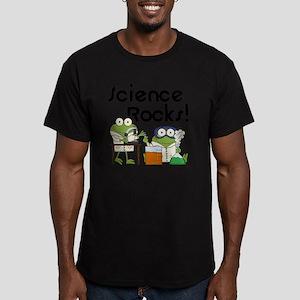 Frogs Science Rocks Men's Fitted T-Shirt (dark)