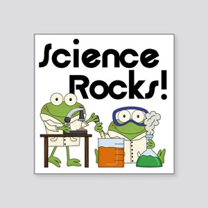 "Frogs Science Rocks Square Sticker 3"" x 3"""