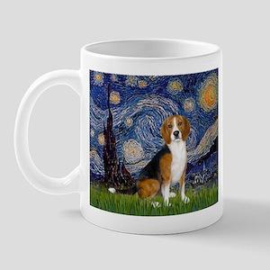 Starry Night & Beagle Mug