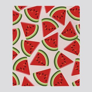 Watermelon Pattern Flip Flops Throw Blanket