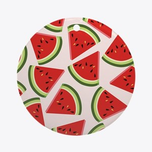 Watermelon Pattern Flip Flops Round Ornament