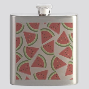 Watermelon Pattern Flip Flops Flask