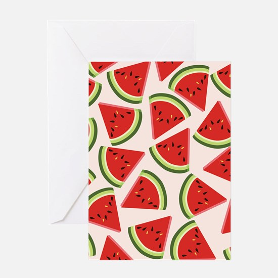 Watermelon Pattern Flip Flops Greeting Card