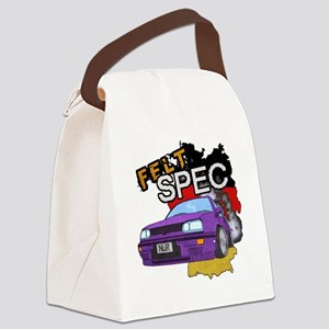 Felt Spec Motor Canvas Lunch Bag