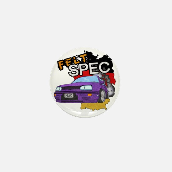 Felt Spec Motor Mini Button