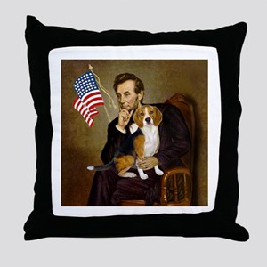 Lincoln & Beagle Throw Pillow