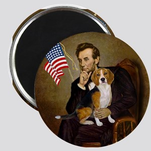 Lincoln & Beagle Magnet
