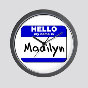 hello my name is madilyn  Wall Clock