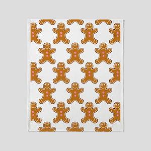 'Gingerbread Men' Throw Blanket