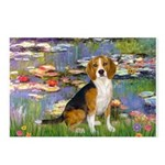 Lilies (#2) - Beagle #7 Postcards (Package of 8)