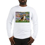 Lilies (#2) - Beagle #7 Long Sleeve T-Shirt