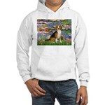 Lilies (#2) - Beagle #7 Hooded Sweatshirt