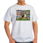 Lilies (#2) - Beagle #7 Light T-Shirt