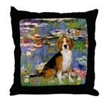 Lilies (#2) - Beagle #7 Throw Pillow