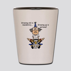 Funny Old People Growing Old Shot Glass