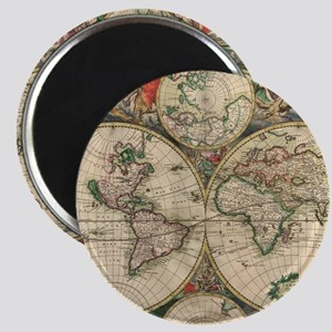 Antique Old World Map Magnet