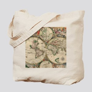 Antique Old World Map Tote Bag