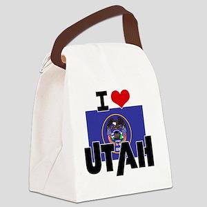 I HEART UTAH FLAG Canvas Lunch Bag