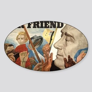 FDR OUR FRIEND Sticker (Oval)