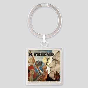 FDR OUR FRIEND Square Keychain