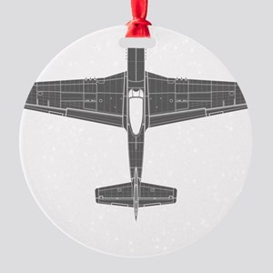 North American P-51D Mustang Round Ornament