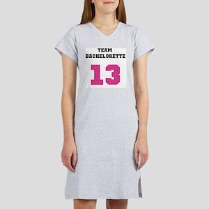 Team Bachelorette Pink 13 Women's Nightshirt