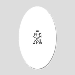 Keep Calm Black 20x12 Oval Wall Decal
