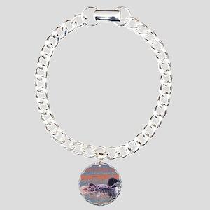 loon scene Charm Bracelet, One Charm