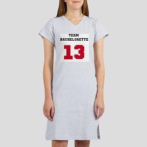 Team Bachelorette Red 13 Women's Nightshirt