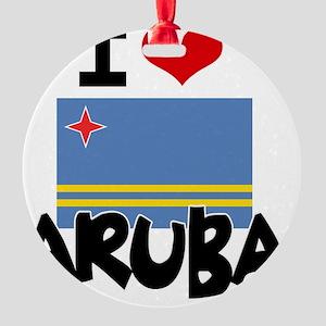 I HEART ARUBA FLAG Round Ornament