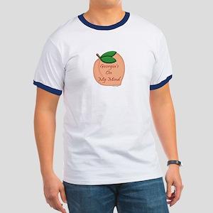 Georgia Minded Peach Ringer T