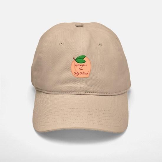 Georgia Minded Peach Baseball Baseball Cap