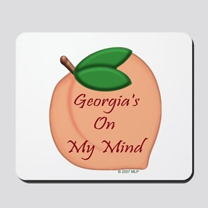 Georgia Minded Peach Mousepad