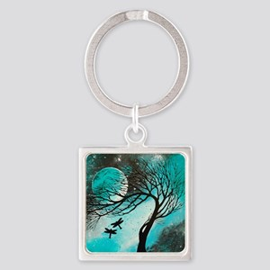 Dragonfly Bliss Square Keychain