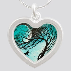Dragonfly Bliss Silver Heart Necklace