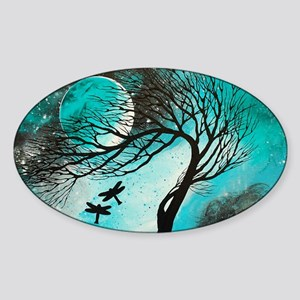 Dragonfly Bliss Sticker (Oval)