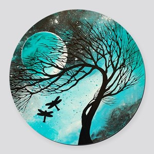 Dragonfly Bliss Round Car Magnet