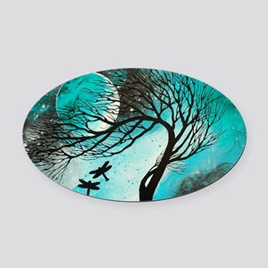 Dragonfly Bliss Oval Car Magnet