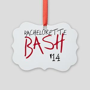 Red and Black Bachelorette Bash 1 Picture Ornament