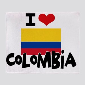 I HEART COLOMBIA FLAG Throw Blanket