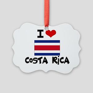 I HEART costa rica FLAG Picture Ornament