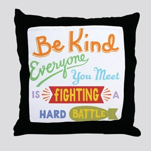 hard-battle-T Throw Pillow