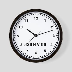 Denver Newsroom Wall Clock