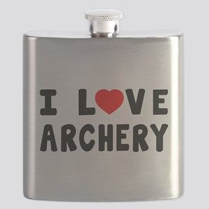 I Love Archery Flask