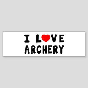 I Love Archery Sticker (Bumper)