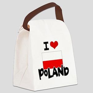 I HEART POLAND FLAG Canvas Lunch Bag