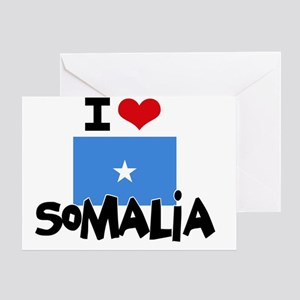 I HEART SOMALIA FLAG Greeting Card
