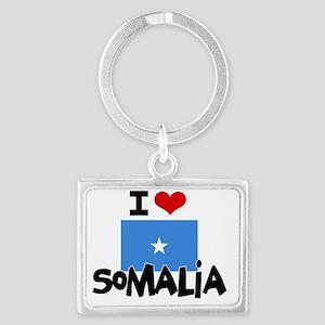 I HEART SOMALIA FLAG Landscape Keychain
