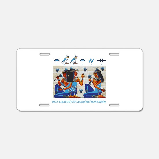 Egyptian ladies png final Aluminum License Plate